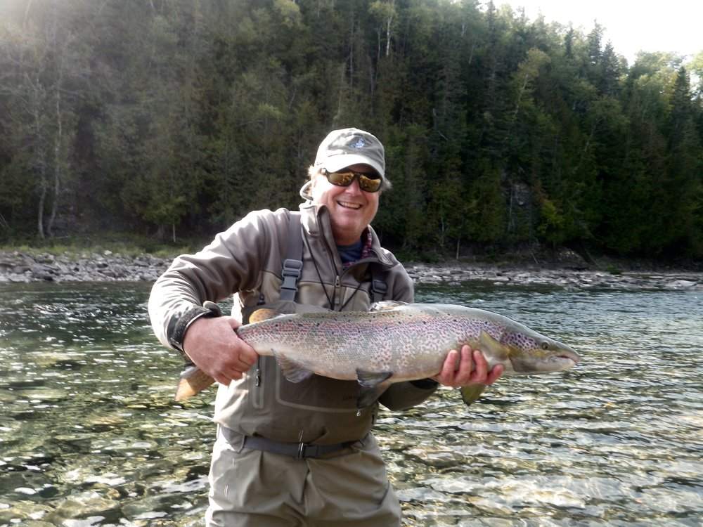 Michael Norris landed this beautiful fall run salmon on the Bonaventure, nice one Michael congratulations !