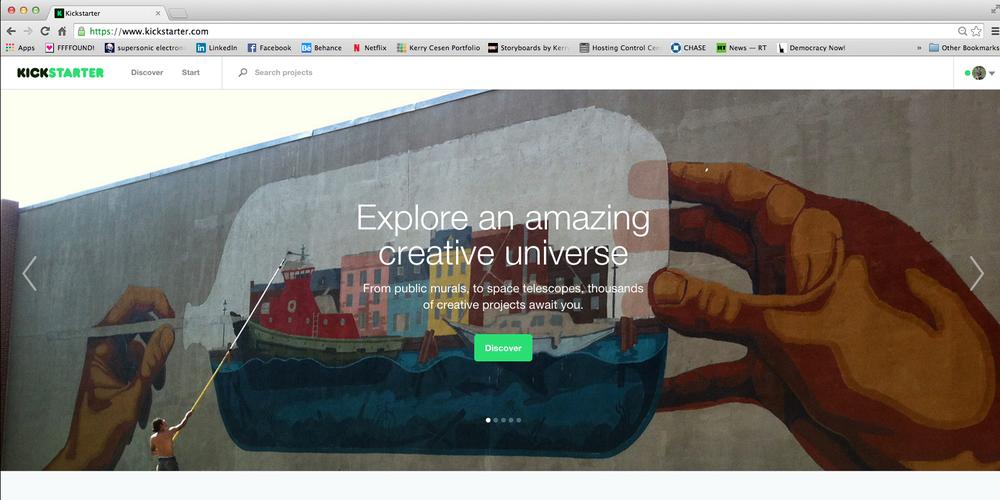 Kickstarter homepage