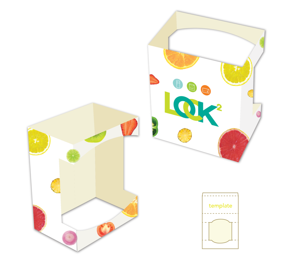 Using the cross section of fruits and vegetable to convey the idea of freshness. Regardless of when users open up LOCK & LOCK, their packed food remains fresh. The idea also tells customers that they can pack any food into the container healthily and safely.