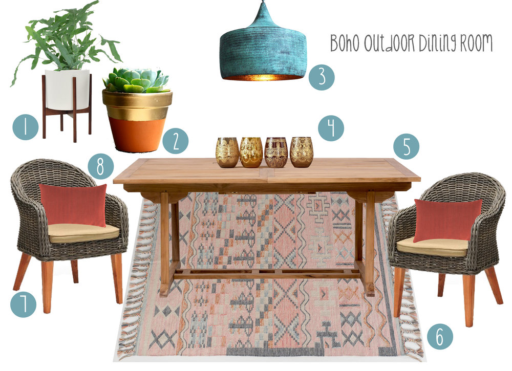 Iu0027m Sharing It With You In Hopes Youu0027ll Be Inspired For YOUR New Outdoor Dining  Space! So, Here It Is: My Idea For A Simple Modern Boho Dining Room, ...