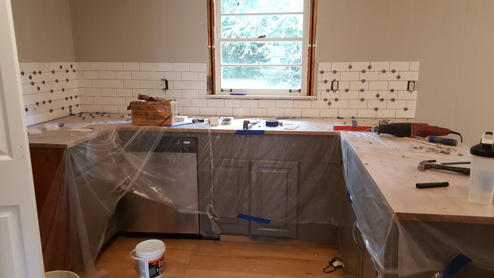 The biggest change will be the kitchen.  Can you spot all the changes so far?