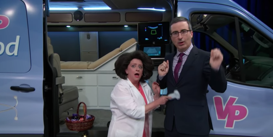 John Oliver and Rachel Dratch show just how absolutely bonkers Mobile Fake Clinics are (and highlighted the work of some #EFC members!) in this hilarious segment on   Last Week Tonight   !