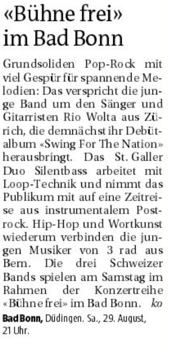 Freiburger Nachrichten, 28. August 2015