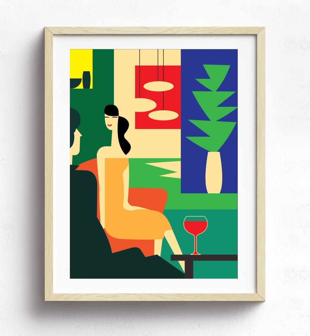 """MarioSiART """"Retro Cocktails"""" Art Print"""