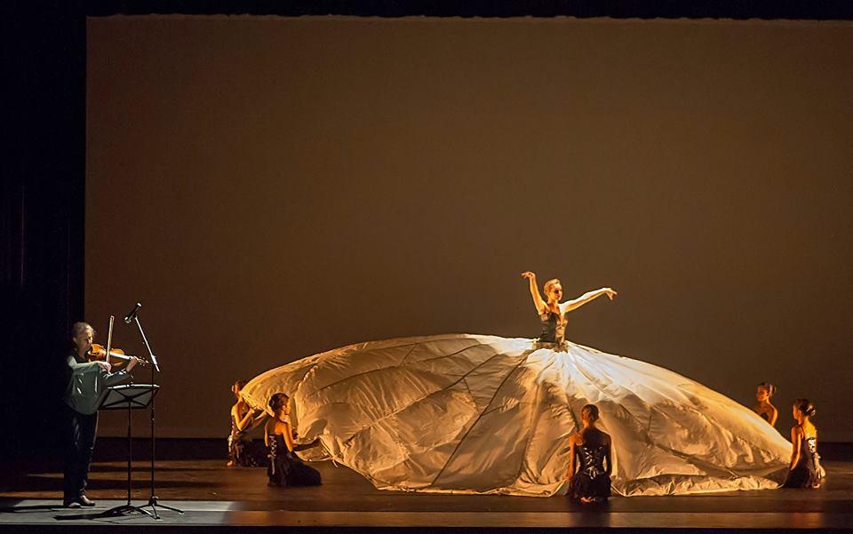 Performing Tanya Bello's dance piece
