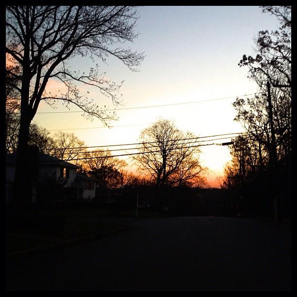 Suburban sunsets