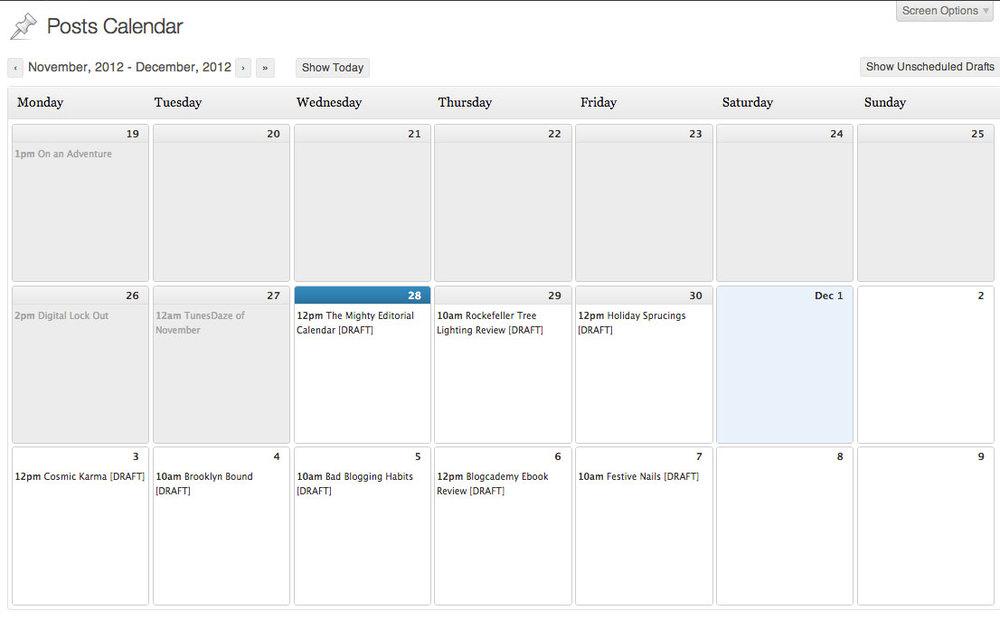 My Editorial Calendar