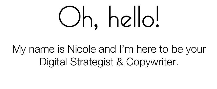 Oh, hello!