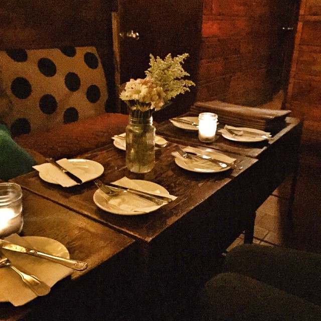 Simple, yet elegant place settings at one of my favorite NYC restaurants.