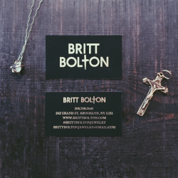 Britt Bolton Cards- Gold Foil on Black