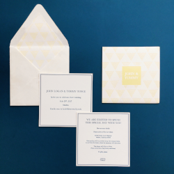 Malibu Summer Wedding- Lettterpress, Edge Painting & Custom Invitation Sleeve