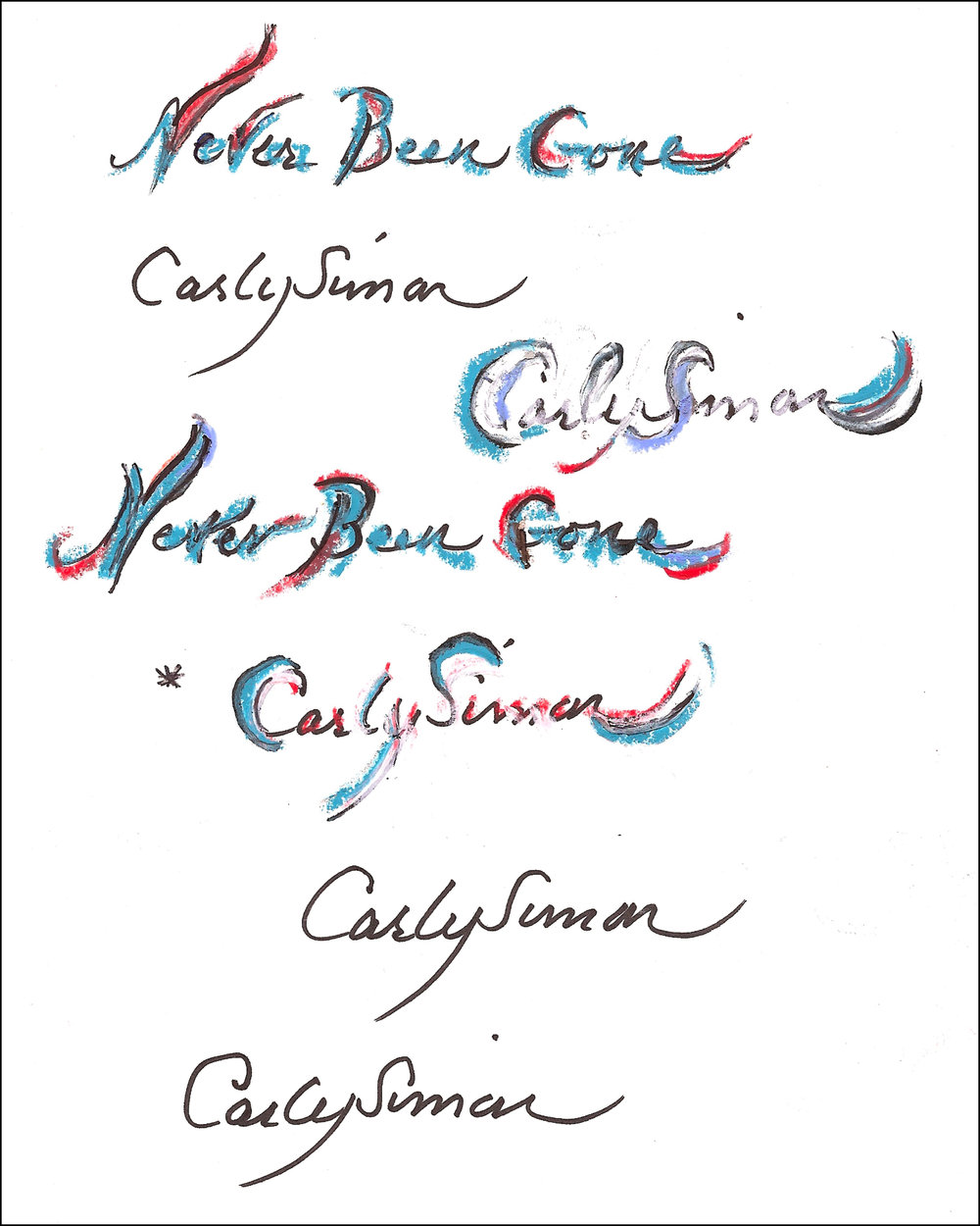 Original handwritten name (with asterisk) for cover (Click to enlarge)