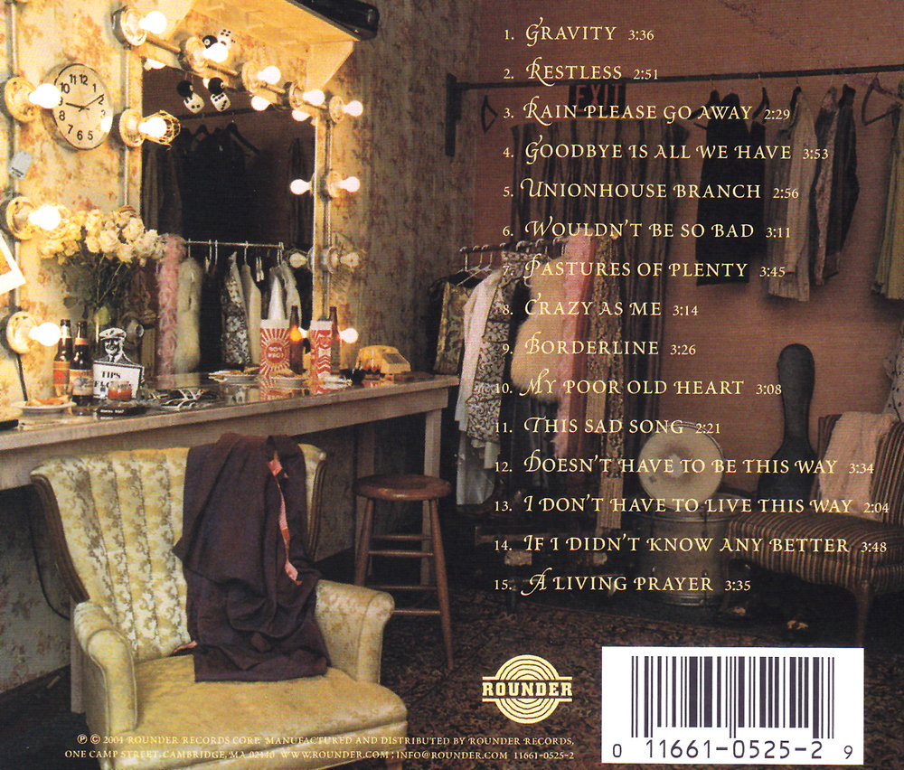 """Our"" dressing room on the LP/CD back cover."