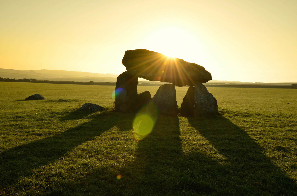5000 year-old Celtic Burial Chamber in Wales.