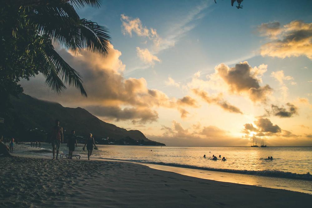 The beautiful Seychelles.