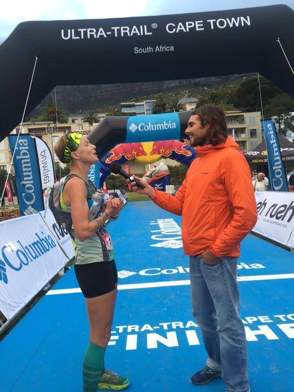 Story telling at the finish line. Photo by UTCT.