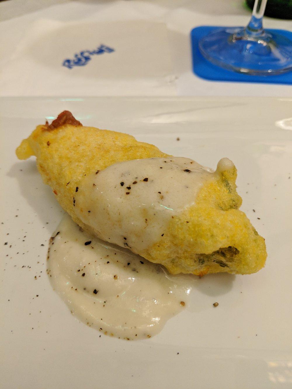 Fiori di zucca at Roscioli Salumeria con Cucina