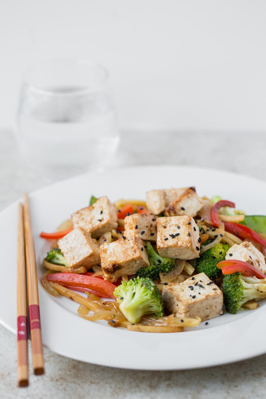 Tofu and Vegetable Stir Fry. Photo by Sarah Crowder.