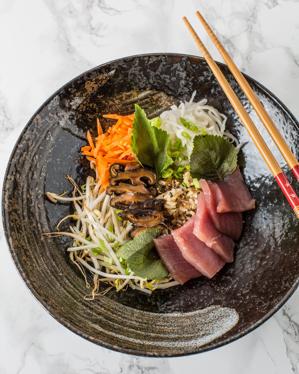 Tuna Chirashi Bowl. Photo by Sarah Crowder.