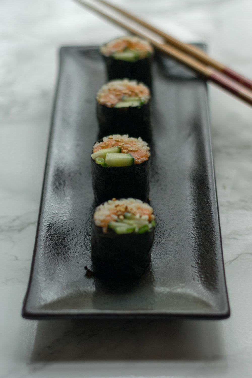 Salmon Cucumber Rolls. Photo by Jenny Dorsey.
