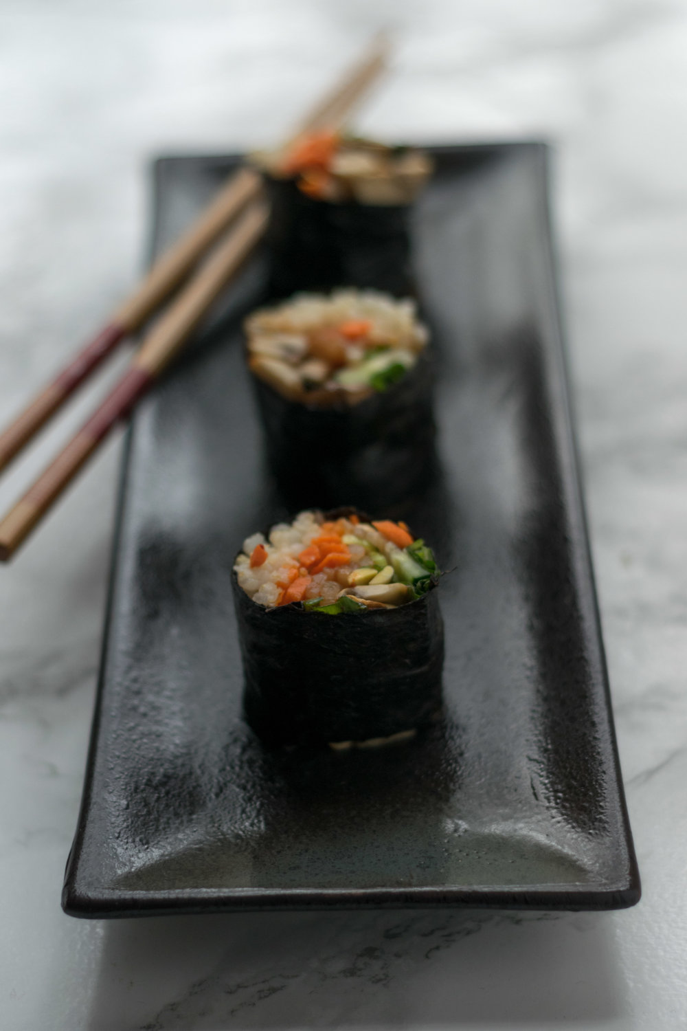 Vegetable Sushi Rolls. Photo by Jenny Dorsey.