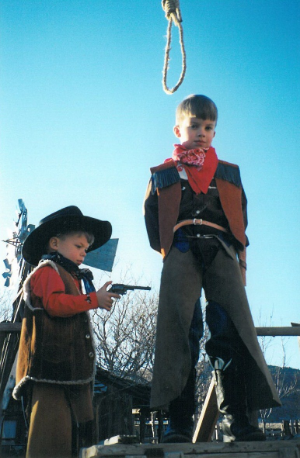 My brother, Taylor is on the left, clearly the winner in this one.