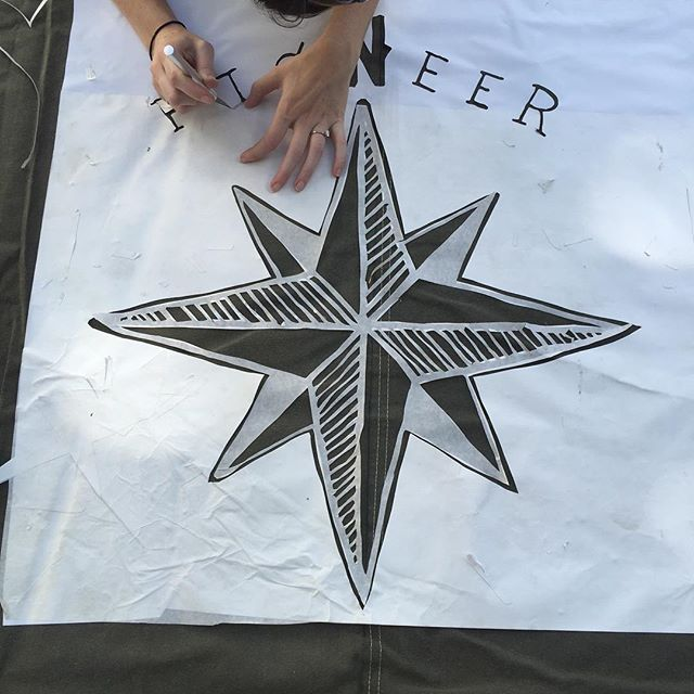 When your stencil comes in as a vinyl decal, you gotta make it work. #WeGoFirst #PioneerBoards