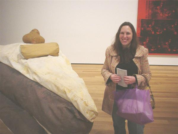Me in NYC with my favorite Modern Artist's Claes Oldenburg 60's sculpture  Floor Cake .