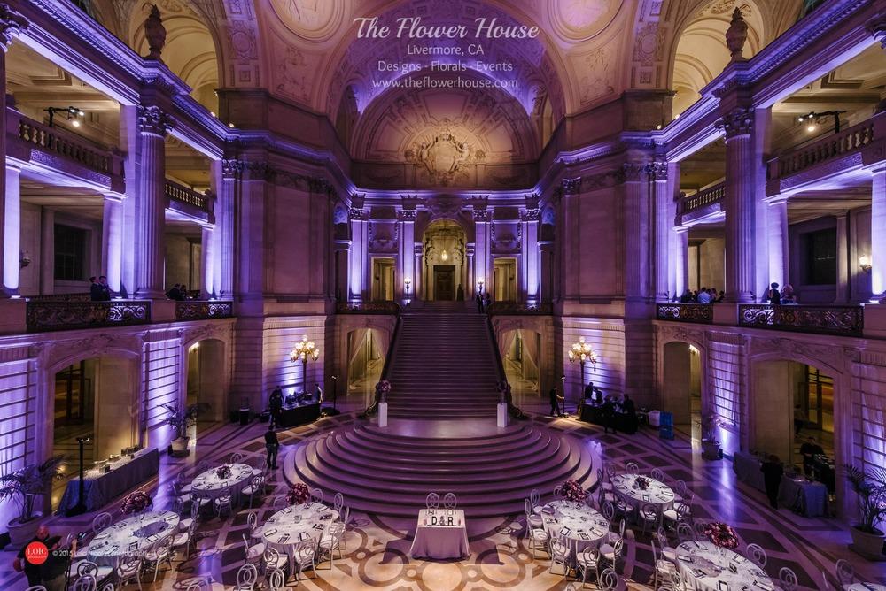 San Francisco City Hall Weddingblush Magentas The Flower House
