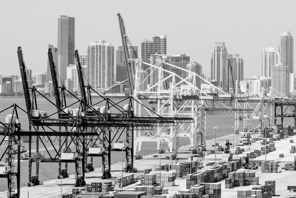 PORT OF MIAMI 2, 2006   ARCHIVAL PIGMENT PRINT ON COTTON RAG PAPER FRAMED, DATED AND SIGNED ON VERSO  SIZES 45 X 30 INCHES 24 X 36 INCHES