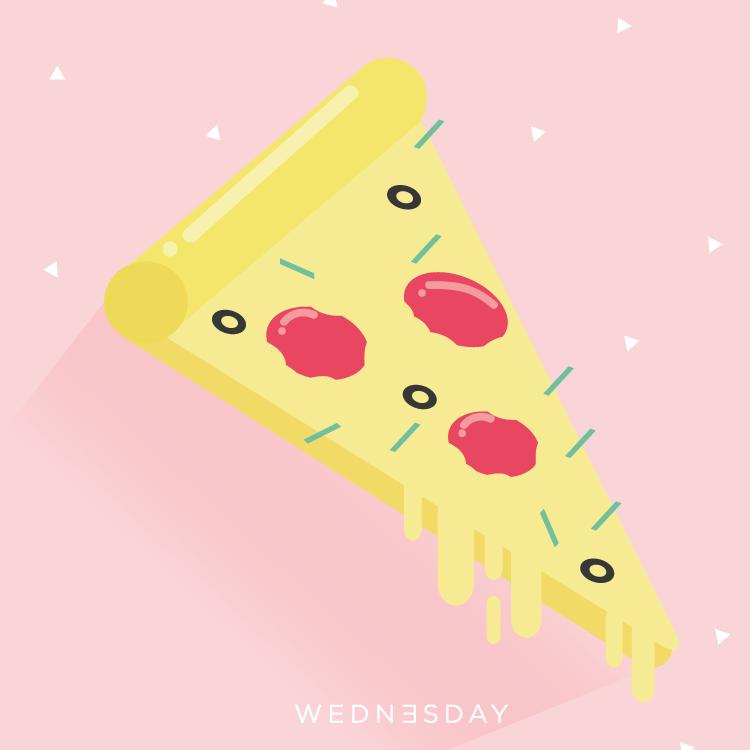 el miércoles siempre atravesado, pero una pizza nunca //  patricia piña // 28 minutos.