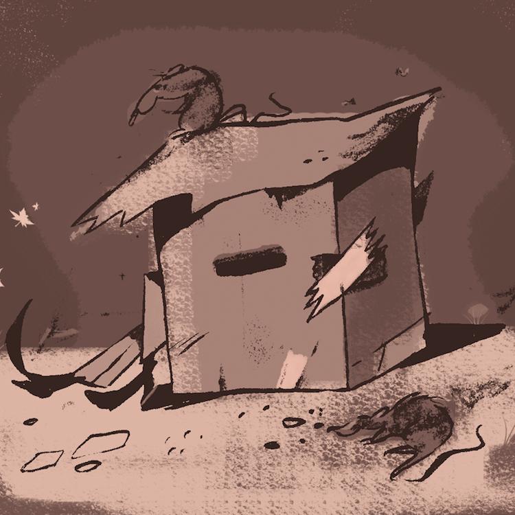duermen bajo una casa de cartón improvisada, no podrían ir las cosas peor, hector lo ha perdido todo //  carlos rodriguez // 36 minutos.