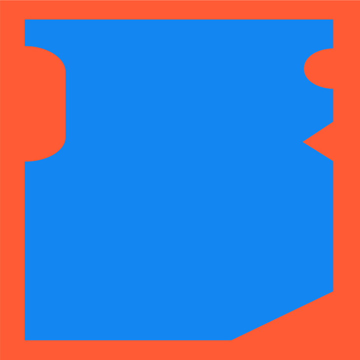 azul y naranja, homenaje a gerd leufert  // javier vivas // instagram    formas concretas : esta serie es la síntesis fundamental entre las posibilidades de la luz y la materia como resultado de haber entendido la pintura como una cuestión experimental, entendiendo esto, presento variaciones pictóricas que mantienen un carácter escultórico como forma y por su asociación a ambientes, letras, espacios, etc pero siempre transmitiendo una necesidad de generar diálogos entre elementos básicos para entender las relaciones de figura y fondo.