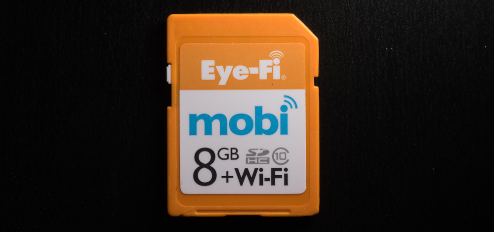 The Eye-Fi Mobi Card in all of it's glory!