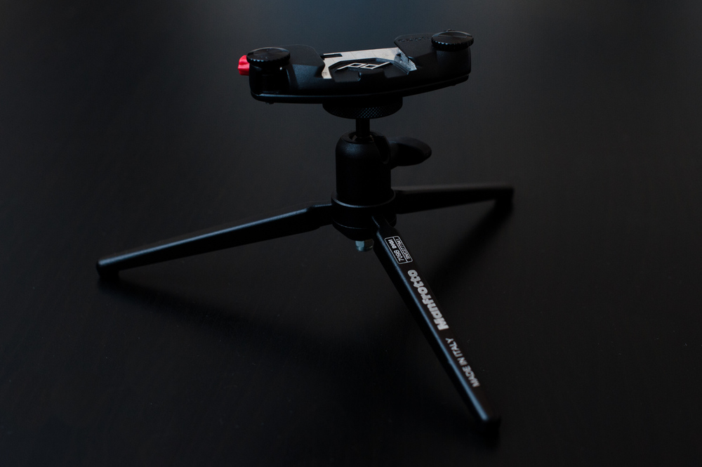 Manfrotto 709B paired with the Peak Design Capture Pro