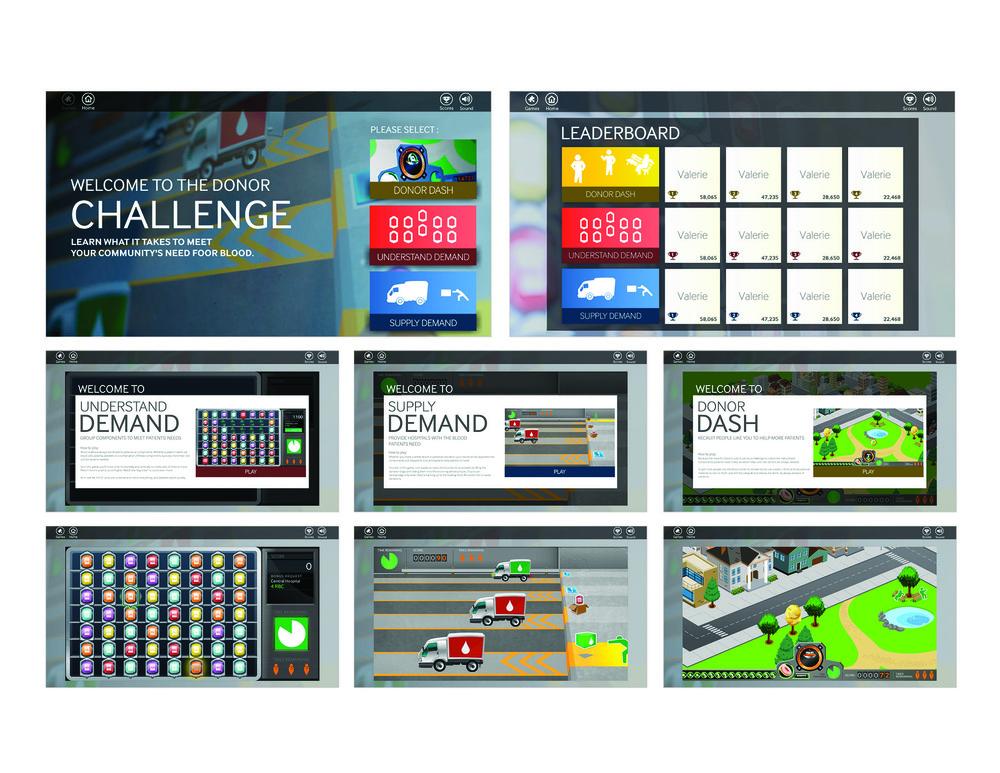 Terumo BCT  Interactive Tradeshow Engagement Tool, Concept, Art Direction and Game Design