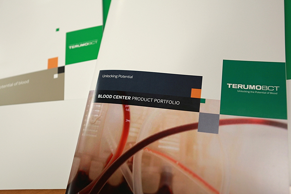 Terumo BCT  Brochure, Concept and Design