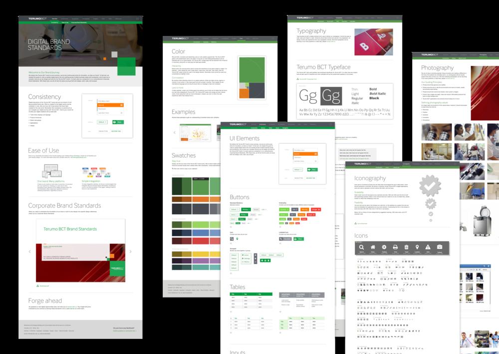 Terumo BCT  Digital Brand Standards Site, Concept and Design