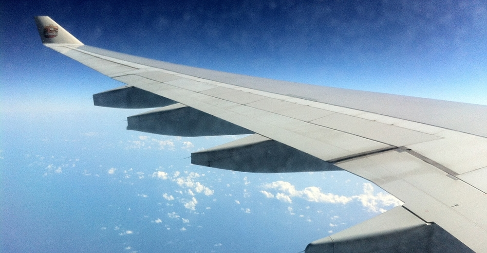 35,000 ft over the Indian Ocean