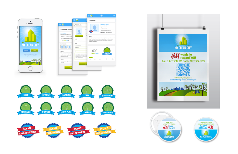 My Clean City | Mobile app design, web design, illustration, marketing collateral