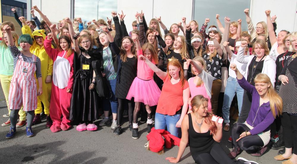 Girls Rock! Reykjavík participants in 2013