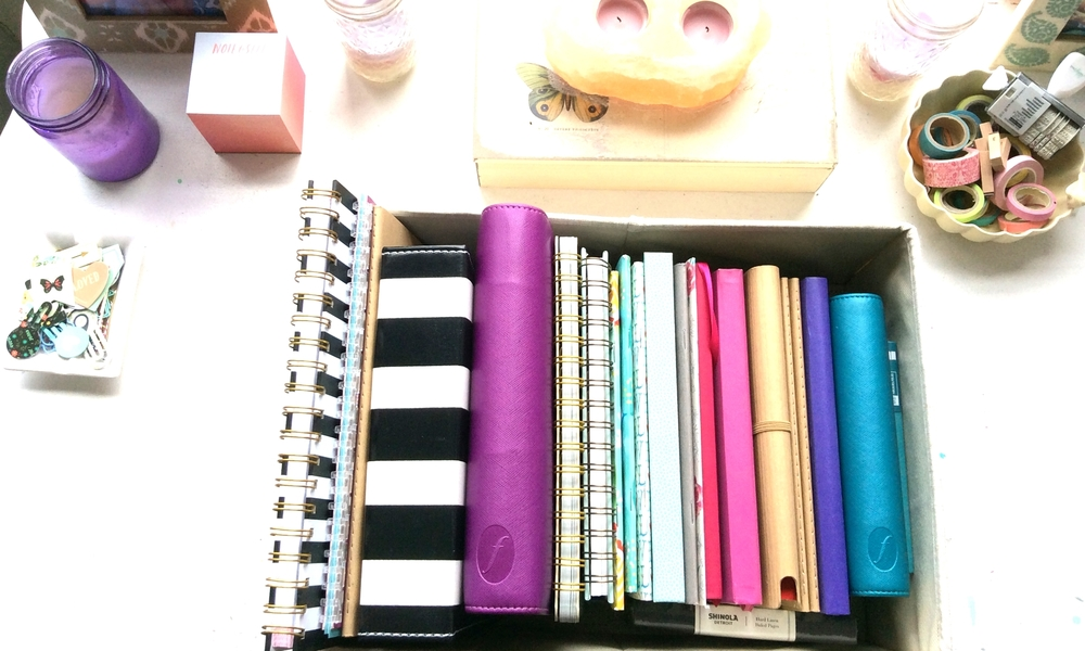 Just a few of the MANY pretty notebooks in my collection