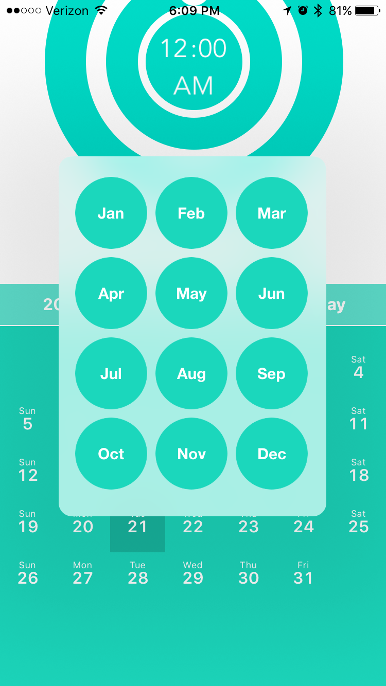 Month view - Final
