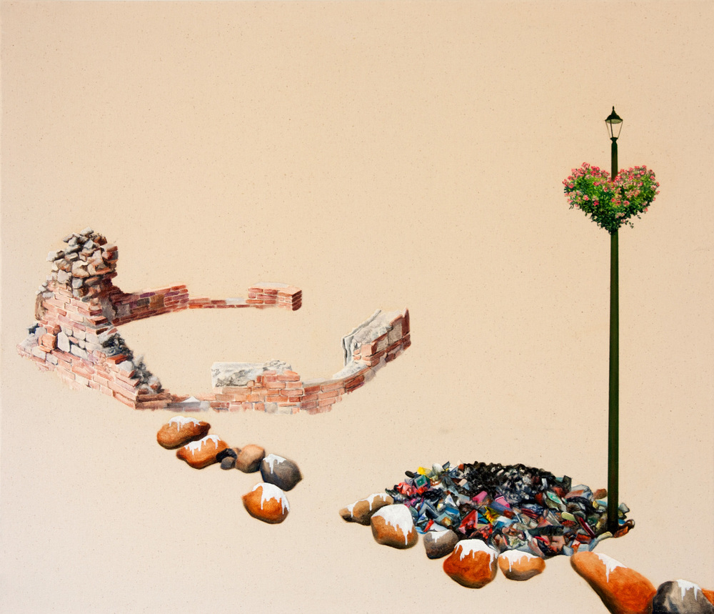 Little Pieces (Bricks) Oil on canvas 2009 61 x 71 cm