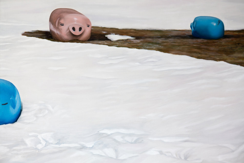 Kevin Chin, Less Than White (detail), 2015, oil on linen, 198 x 280 cm