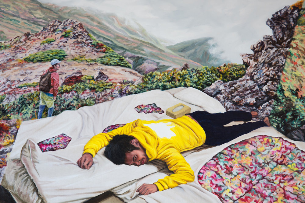 Kevin Chin, No Rest (detail), 2015, oil on linen, 137 x 198 cm