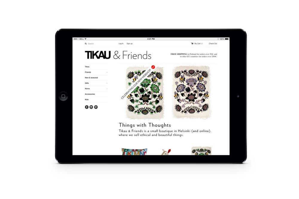 #retail #webshop #UX-design #shopify #Tikau