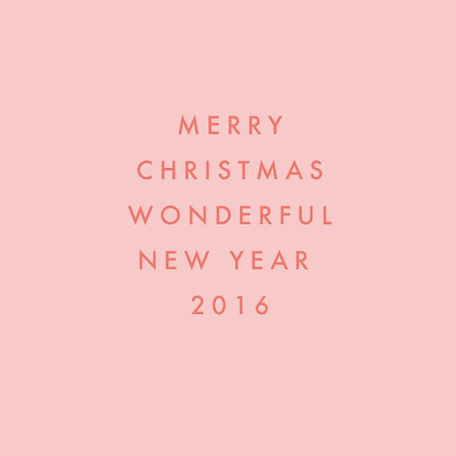 Merry Christmas and a Wonderful New Year 2016! #peace #love #prosperity #wishes