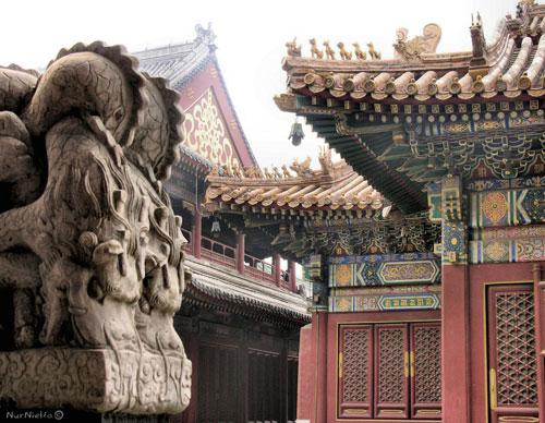 Detalle Ornamentación. Templo de los Lamas. Beijing. China