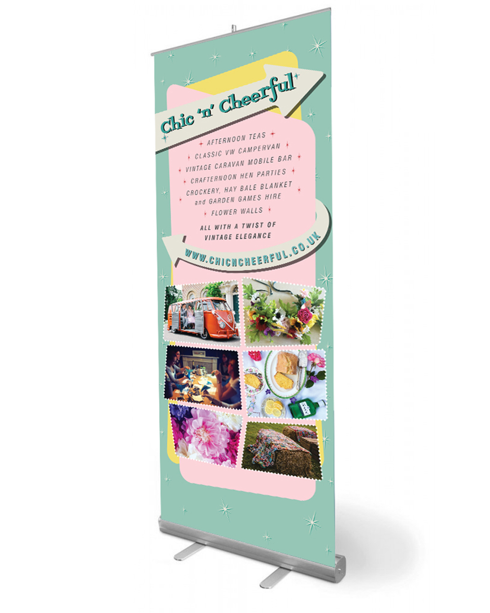 chicncheerful pop up banner graphic design tunbridge wells
